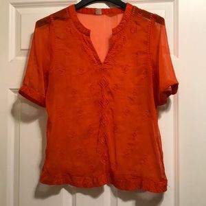 Old Navy sheer orange top